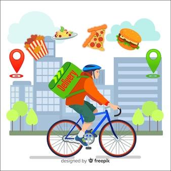 Pagina di destinazione del concetto di consegna