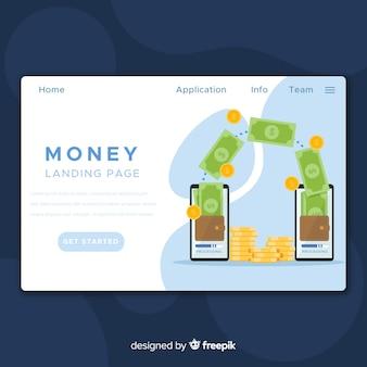 Pagina di destinazione del concetto di denaro