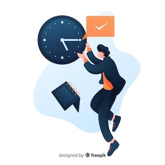 Pagina di destinazione del concetto di gestione del tempo