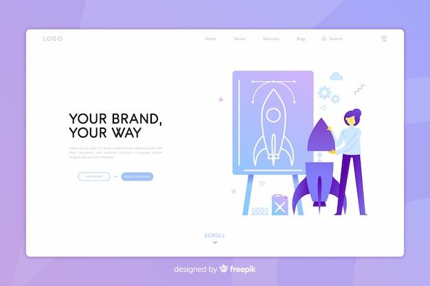 Pagina di destinazione del concetto di marchio