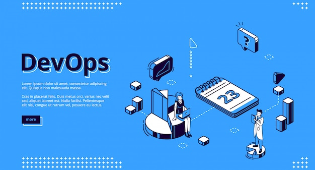 Pagina di destinazione del concetto di operazioni di sviluppo