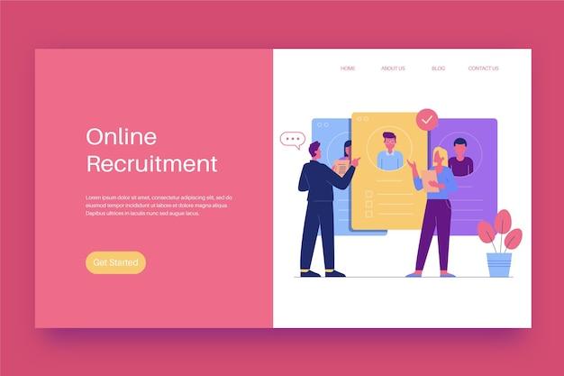 Pagina di destinazione del concetto di reclutamento