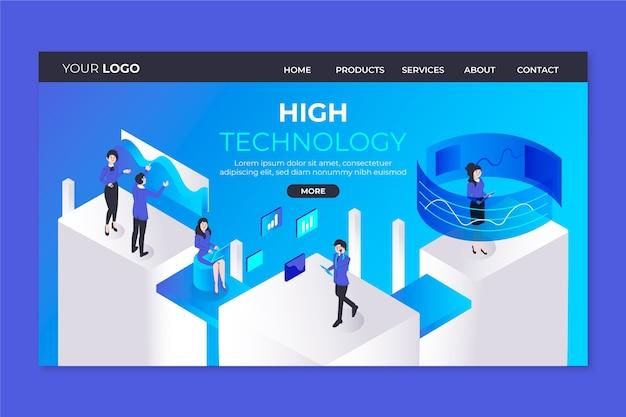 Pagina di destinazione del concetto di tecnologia modello