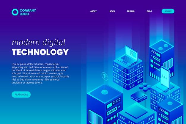 Pagina di destinazione del concetto di tecnologia