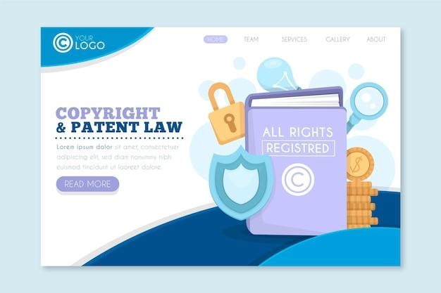 Pagina di destinazione del copyright