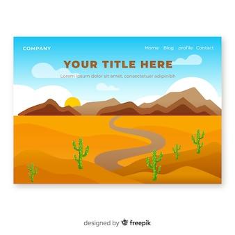 Pagina di destinazione del deserto