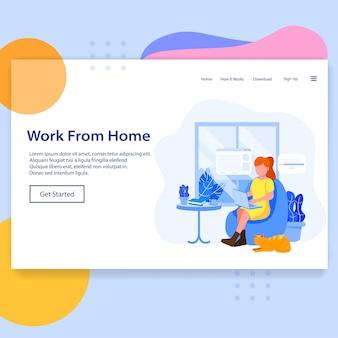 Pagina di destinazione del lavoro da casa