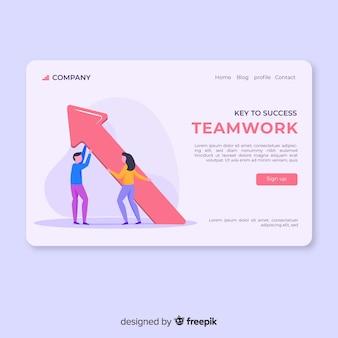 Pagina di destinazione del lavoro di squadra