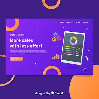 Pagina di destinazione del marketing digitale