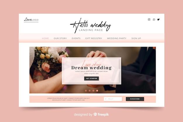 Pagina di destinazione del matrimonio da sogno