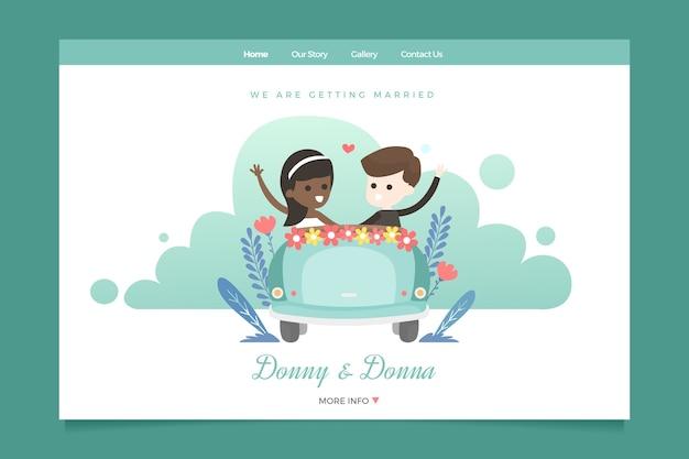Pagina di destinazione del matrimonio modello