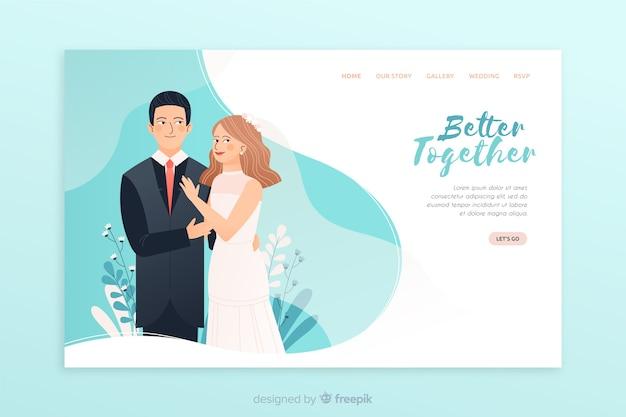 Pagina di destinazione del matrimonio