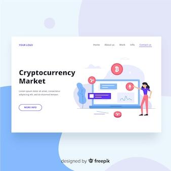 Pagina di destinazione del mercato criptovaluta
