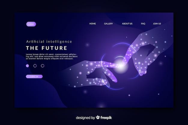 Pagina di destinazione del modello di intelligenza artificiale