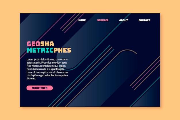 Pagina di destinazione del modello geometrico minimale