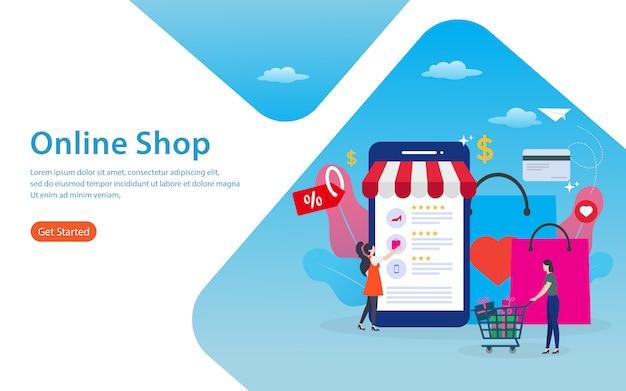 Pagina di destinazione del negozio online