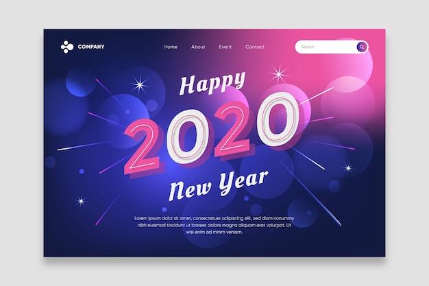 Pagina di destinazione del nuovo anno offuscata