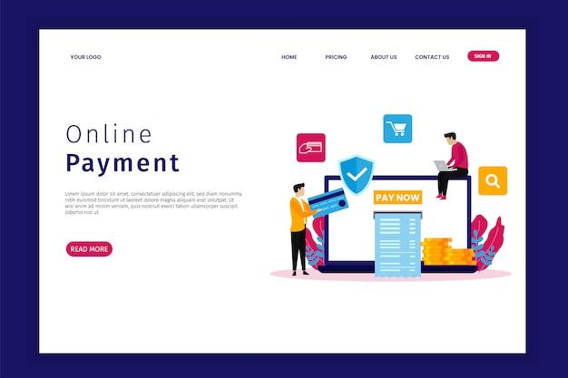 Pagina di destinazione del pagamento online
