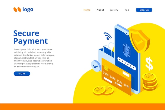 Pagina di destinazione del pagamento sicuro
