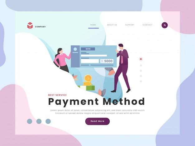 Pagina di destinazione del pagamento