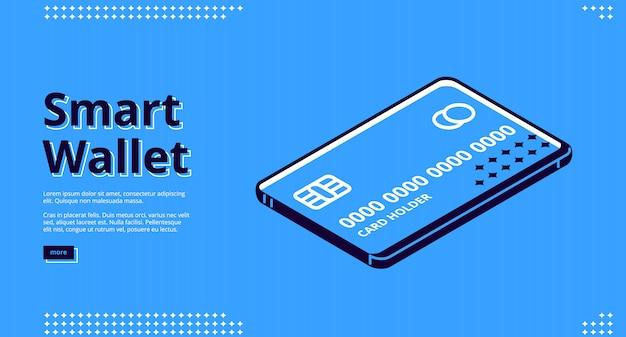 Pagina di destinazione del portafoglio intelligente, pagamento mobile