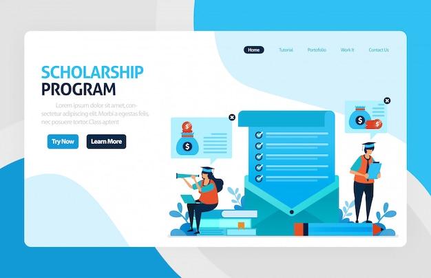 Pagina di destinazione del programma di borse di studio