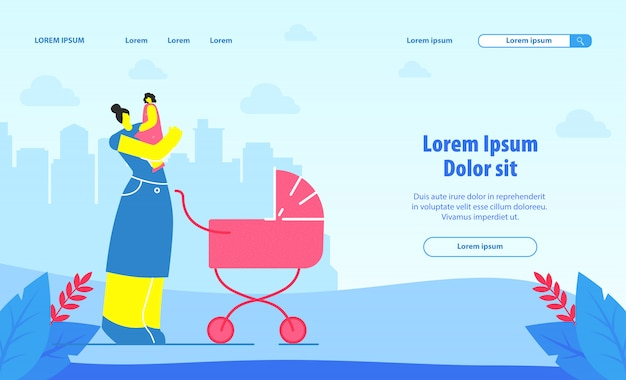 Pagina di destinazione del servizio di babysitting