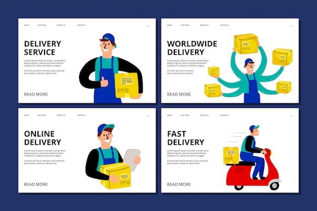 Pagina di destinazione del servizio di consegna