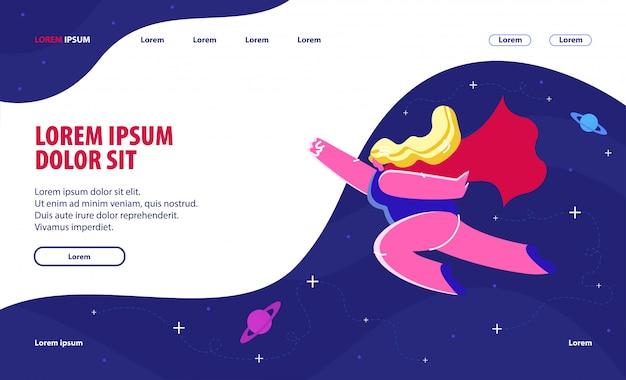 Pagina di destinazione del sito web di femminismo