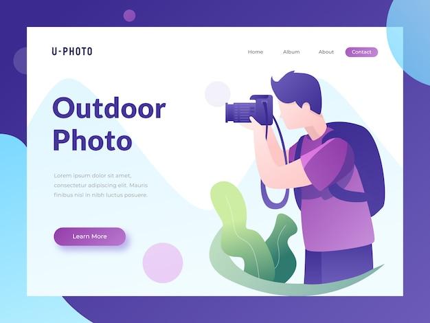 Pagina di destinazione del sito web fotografico