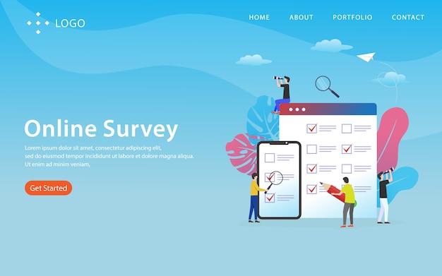 Pagina di destinazione del sondaggio online