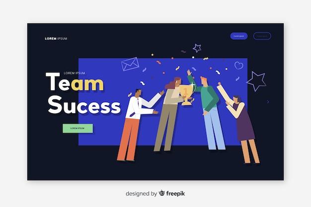 Pagina di destinazione del successo del team