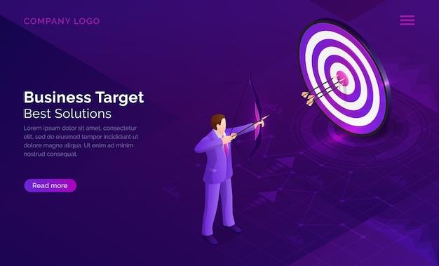 Pagina di destinazione del target aziendale