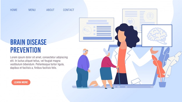 Pagina di destinazione del trattamento di prevenzione delle malattie cerebrali