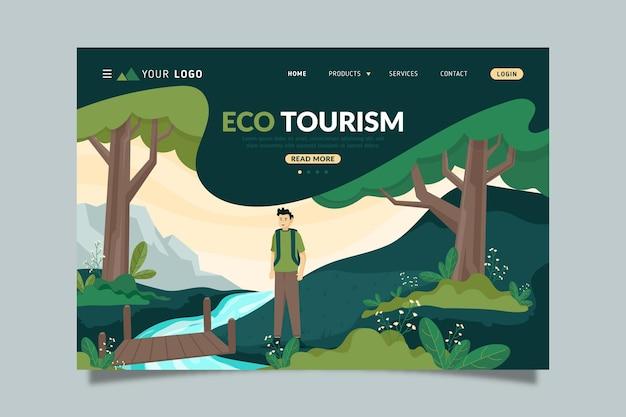 Pagina di destinazione del turismo ecologico