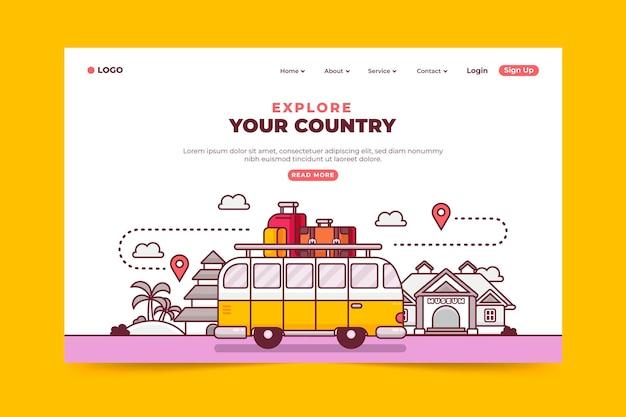 Pagina di destinazione del turismo locale