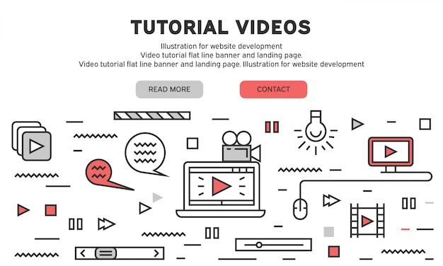 Pagina di destinazione del tutorial video