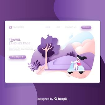 Pagina di destinazione del viaggio