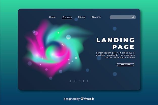 Pagina di destinazione delirante spazio