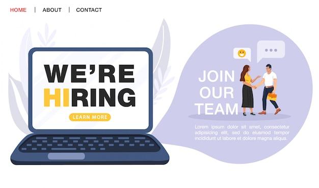 Pagina di destinazione dell'agenzia di reclutamento