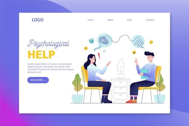 Pagina di destinazione dell'aiuto psicologico