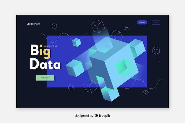 Pagina di destinazione dell'analisi dei big data