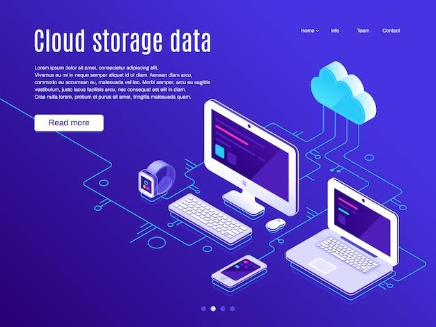 Pagina di destinazione dell'archiviazione cloud.