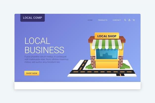Pagina di destinazione dell'attività commerciale locale