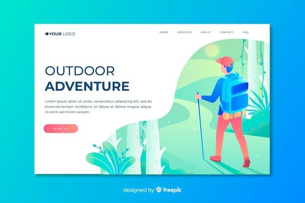 Pagina di destinazione dell'avventura