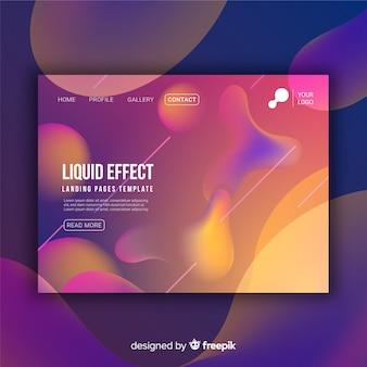 Pagina di destinazione dell'effetto liquido