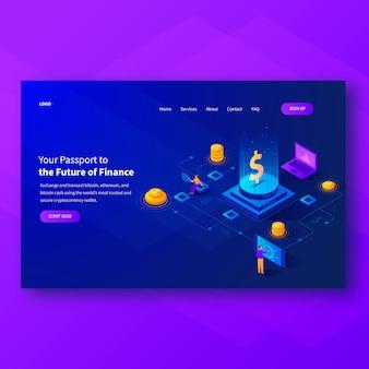 Pagina di destinazione dell'header blockchain