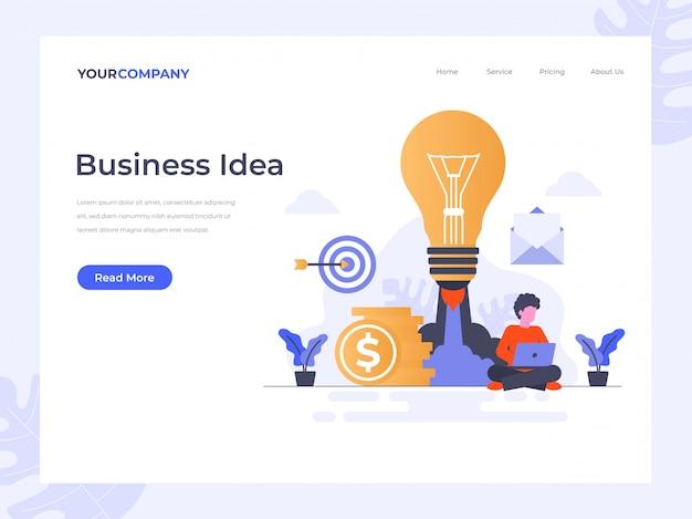 Pagina di destinazione dell'idea commerciale