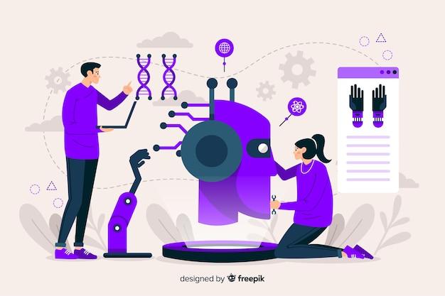 Pagina di destinazione dell'intelligenza artificiale modello