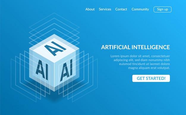 Pagina di destinazione dell'intelligenza artificiale